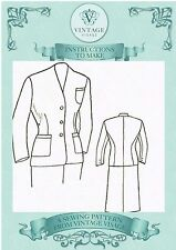 Vintage 1940s coutures instructions-comment convertir un mans costume dans un womans costume