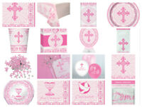 1st First Holy Communion Confirmation Girls Pink Radiant Cross *Multi Listing*