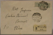 STORIA POSTALE RSI PACCO POSTALE 2 LIRE USATO COME ORDINARIO 1944 ROVIGO #SP448