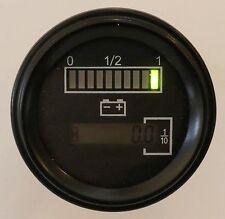 12 Volt Battery Indicator Hour Meter,Gauge -Tri-color