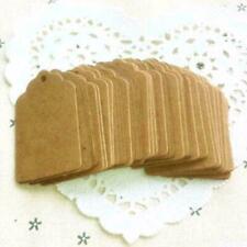 100x Kraftpapier Gift Tag Etiketten Geschenkanhänger Handmade w// Love Anhänger