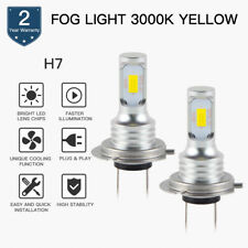 Yellow H7 LED Fog Light Bulb For Audi A3 A4 A6 A8 Allroad Quattro Q7 RS6 S4 S6