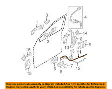 KIA OEM 05-10 Sportage Lock-FRONT DOOR-Cable Assembly 813711F020