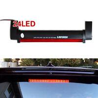 1PC Red 24LED Universal Car High Mount Third Brake Stop Tail Light Lamp 12V