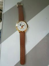 VINTAGE MICKEY MOUSE JUMBO FACE ANALOG QUARTZ WATCH BY LORUS **  V501-0A20 **