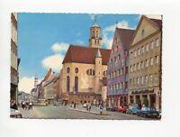 uralte AK Augsburg Maximilianstraße mit St. Moritz-Kirche 1968 //03