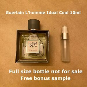 Guerlain L'homme Cool Sample 10ml-Free Sample and Shipping!