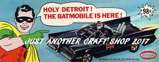 Aurora Batman Batmobile 1966 Streamer Flier Poster Advert Leaflet Sign - Reprint