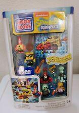 New Discontinued Mega Bloks Sponge Bob Squarepants Rock Band figure Pack