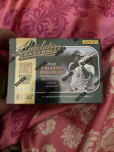 2021 PANINI ABSOLUTE BASEBALL BLASTER Box 1 Autograph/box Green Parallel In Hand