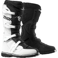 2019 THOR BLITZ XP BOOTS WHITE BLACK MX MOTOCROSS ENDURO QUAD OFF ROAD CHEAP NEW