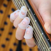4pcs Guitar Fingertip Protectors Finger Guards For Ukulele Guitar Accessori Top