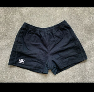 Women's Canterbury Rugby Shorts Black With Pockets - Size XL
