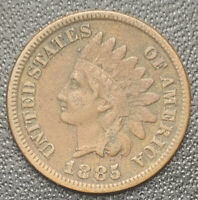 1885 INDIAN HEAD CENT With LIBERTY & DIAMONDS - XF Details, Free Shipping • 4700