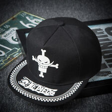 Anime One Piece White Beard Hip-hop Baseball Cap Snapback Hat Cosplay Luminous