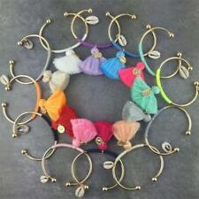 Bohemia Tassel Charm Bracelets For Women Fashion Gold Color silver Cuff Bangles