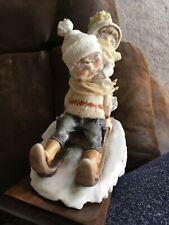 Giuseppe  00004000 Armani Figurine-Winter Fun 1982 9 x 8� Wooden Stand Florence