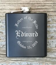 Personalized Father Of The Bride Flask Engraved Old English Monogrammed