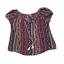 Beautiful Forever 21 Boho Multicoloured Top Size M Perfect For Summer