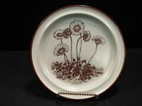 "NEW NORITAKE STONEWARE - DESERT FLOWERS - SET OF 4 Salad Plates 8 1/4"" ~Vintage"