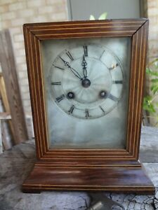 Antique French Pendule D'Officer rosewood case travel clock, no reserve