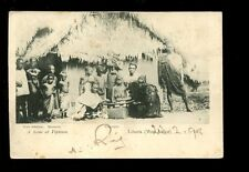 West Africa LIBERIA Scene at Veytown 1898 u/b PPC native family & hut Shultze