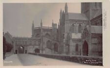 Vtg PHOTO POSTCARD SOMERSET WELLS CATHEDRAL CHURCH ENGLAND PHILLIPS RPPC Antique