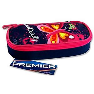 Butterfly Design Campus Oval Zip Pencil Case