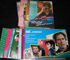 RARE (13 Guides) 1981-85 HBO-CINEMAX Movie Guides (NICE MINT COPIES)