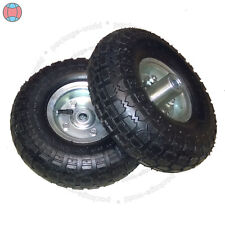 """2X New 10""""Inch Pneumatic Replacement Tyres Sack Hand Truck Trolley Wheel Barrow"""