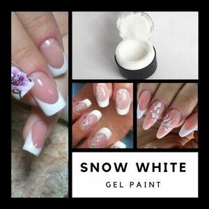 White Gel Paint for French Manicure and Painting Gel for Nail Art like Emi