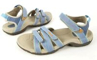 Teva Womens Tirra Sport Sandals Blue Ankle Strap Hook Loop Flats Hiking Casual 6
