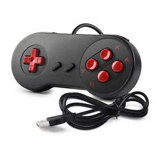 Black Retro Super Nintendo SNES USB Wired Controller Gamepad for Windows PC/MAC