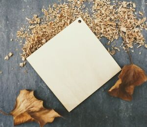 Laser Plywood Square Shape x 10, 4mm Plywood Shapes Wood Shapes