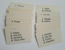 1984 Body Boggle Replacement Pieces/Parts, 43 Word Cards