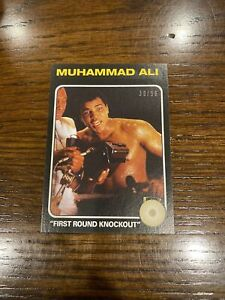 2021 TOPPS MUHAMMAD ALI PEOPLE'S CHAMP BLACK PARALLEL 30/56 CARD #58 1st RD KO