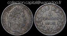 5 Francs Louis Philippe 1er 1842B Rouen Argent