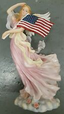 "Angel Statue 10"" American Flag"