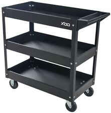 Rolling Tool Cart Utility Heavy Duty Steel Durable Tool Storage Wheels 3-Tray