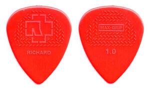Rammstein Richard Z. Kruspe Signature Red Molded Guitar Pick - 2017 Tour