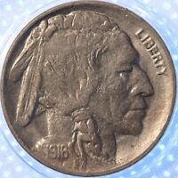 1916 D BUFFALO NICKEL, ORIGINAL PROBLEM FREE SURFACES!!