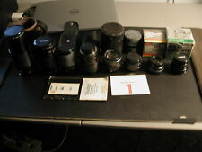 SLR Lens lot of 8 Zoom Sakar Kiron Vivitar Rokinon Rokunar