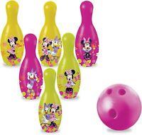 NEW Disney Junior Mondo Minnie Mouse BOWLING SET GAME Girls KIDS SKITTLES GIFT