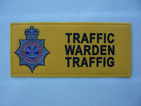 SOUTH WALES POLICE TRAFFIC WARDEN CHEST PATCH BADGE - UNUSED, OBSOLETE.