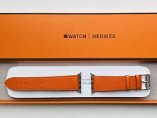 Apple Watch Hermes Strap - 44mm Fauve Feu Epsom Leather Single Tour