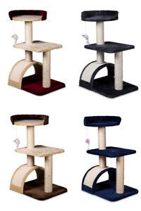 Tiragraffi per gatti graffiatoio parco giochi gioco gatto con colonna alto 60 cm