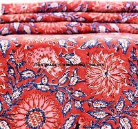 10 yard Cotton Hand Block Print SANGANERI Fabric Indian Fabric Natural Anokhi