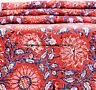 10 yard Cotton Hand Block Print SANGANERI Fabric Indian Fabric Natural Anokhi