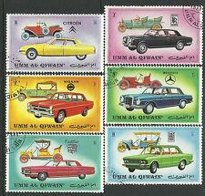 UMM AL QIWAIN 1972 VINTAGE CARS Set 6v USED/CTO
