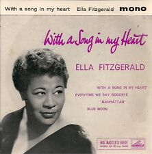 """Ella Fitzgerald With A Song In My Heart UK 45 7"""" EP +Picture Sleeve +4 tracks"""